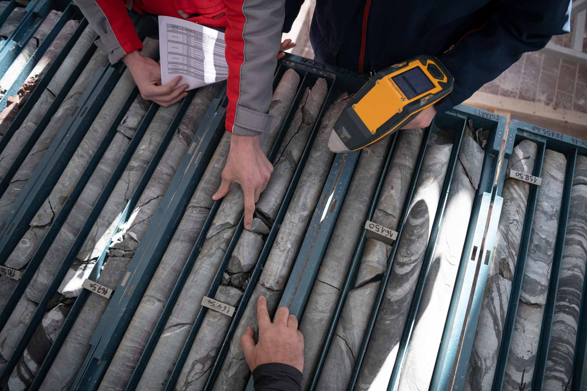 Measuring Drilled Rock Core